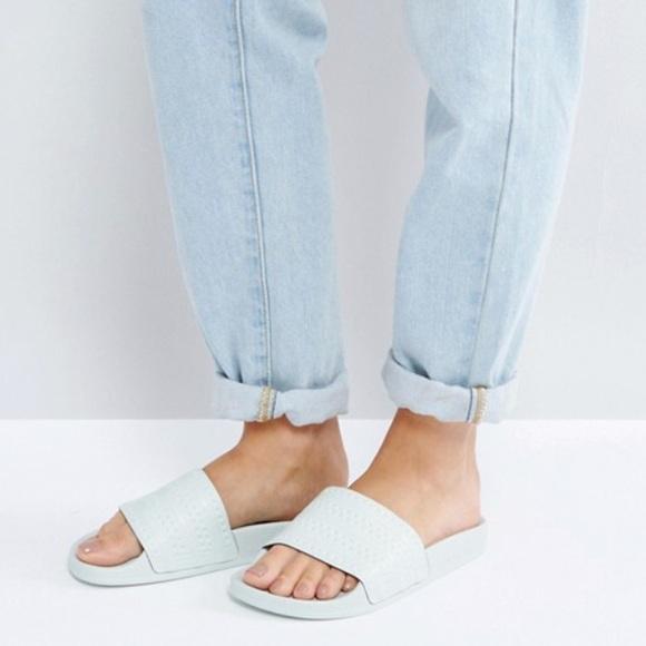 06017cf7f NWT Adidas Originals Adilette Sandals Linen Green